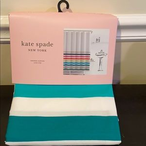 Kate Spade Candy Stripe Shower Curtain.